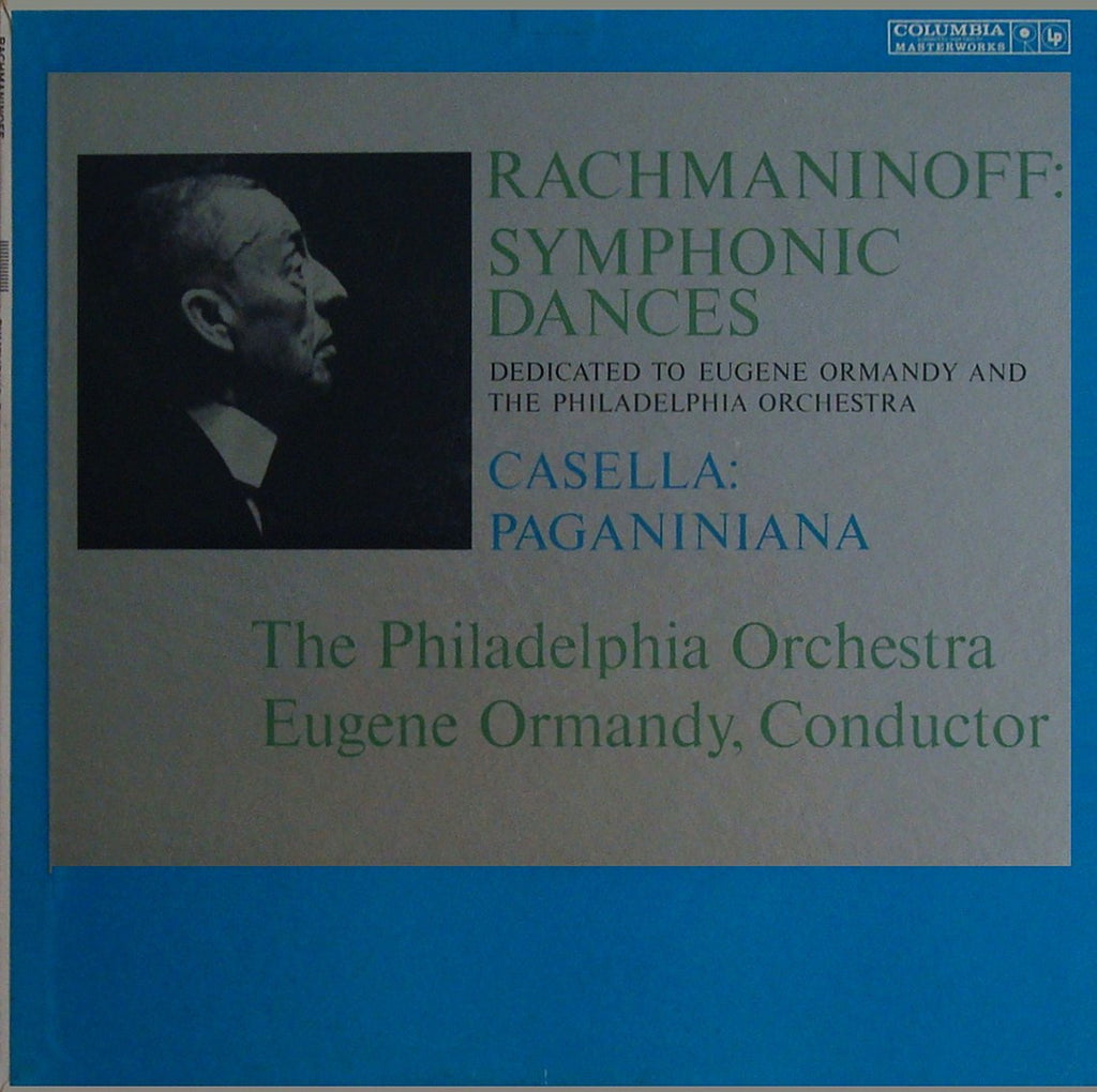 LP - Ormandy: Rachmaninov Symphonic Dances / Casella Paganiniana - Columbia ML 5605