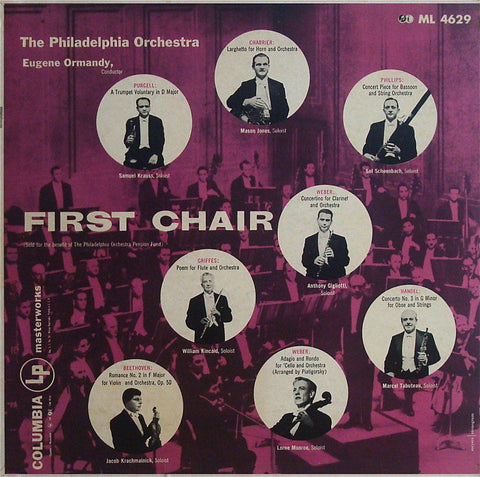 Ormandy: First Chair (Jones, Kincaid, Tabuteau, et al.) - Columbia ML 4629