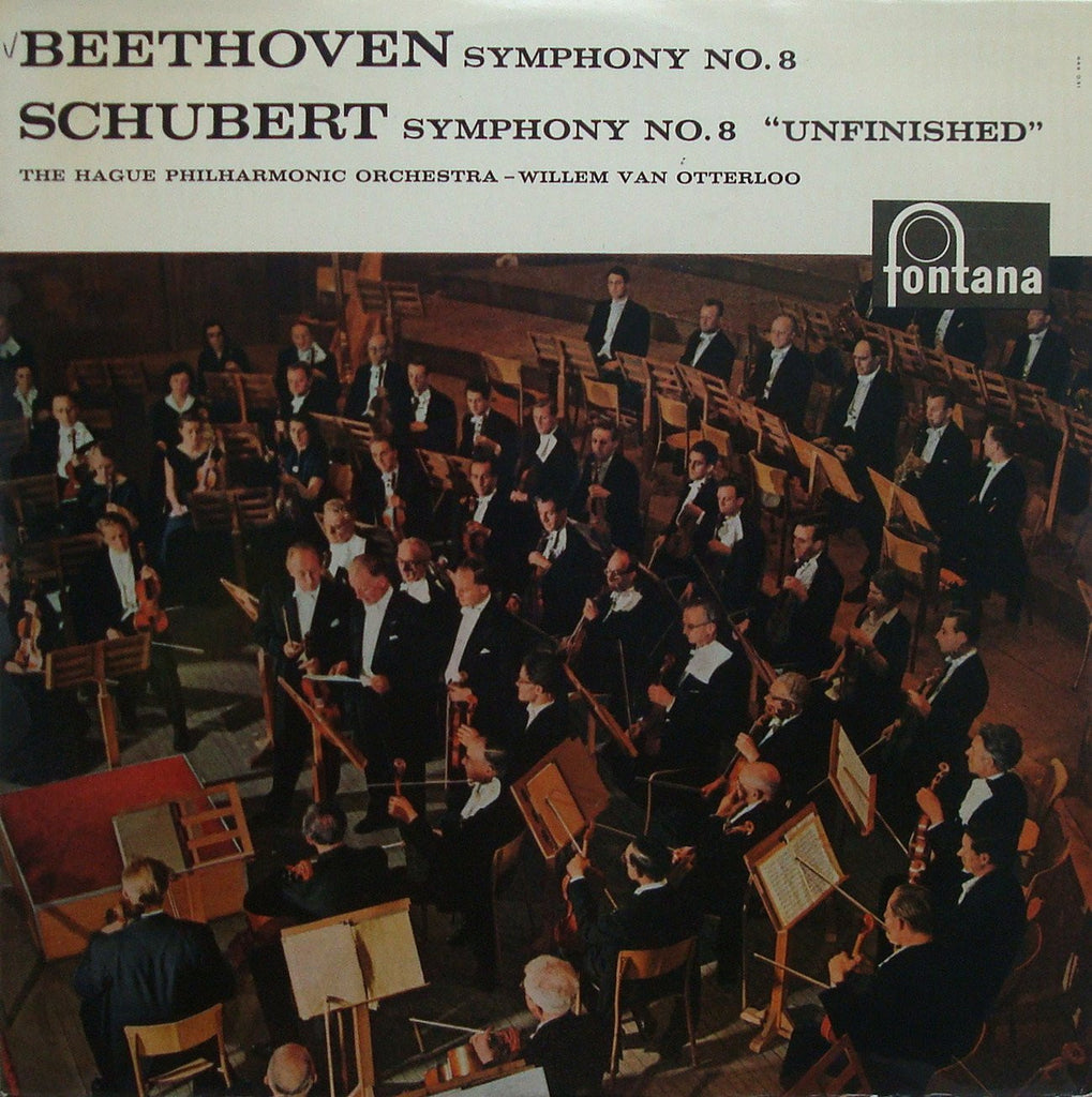 "LP - Otterloo: Beethoven Sym No. 8 + Schubert ""Unfinished"" - Fontana 698 031 CL"