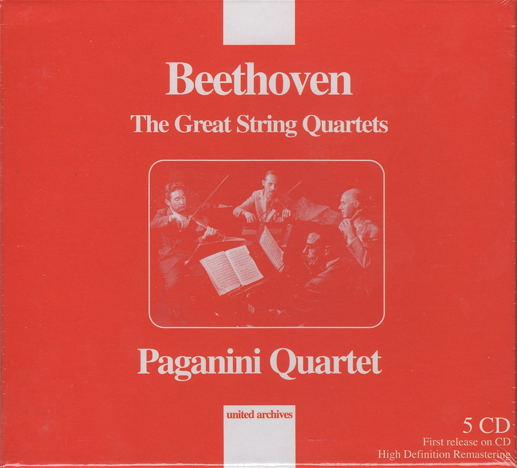 CD - Paganini Quartet: Beethoven 11 SQs (rec. 1947-53) - United Archives NUA11 (5CD Set, Sealed)