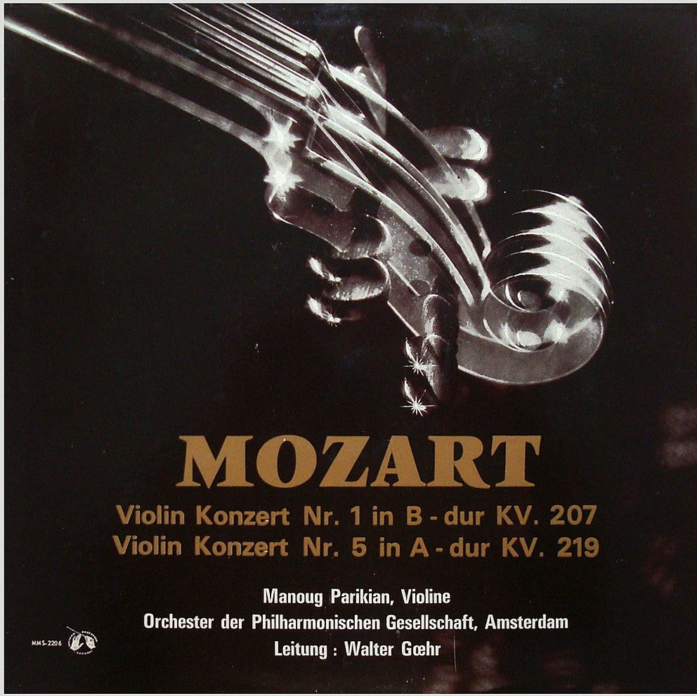 LP - Parikian/Goehr: Mozart Violin Concertos K. 207 & K. 219 - MMS-2206, Superb Copy