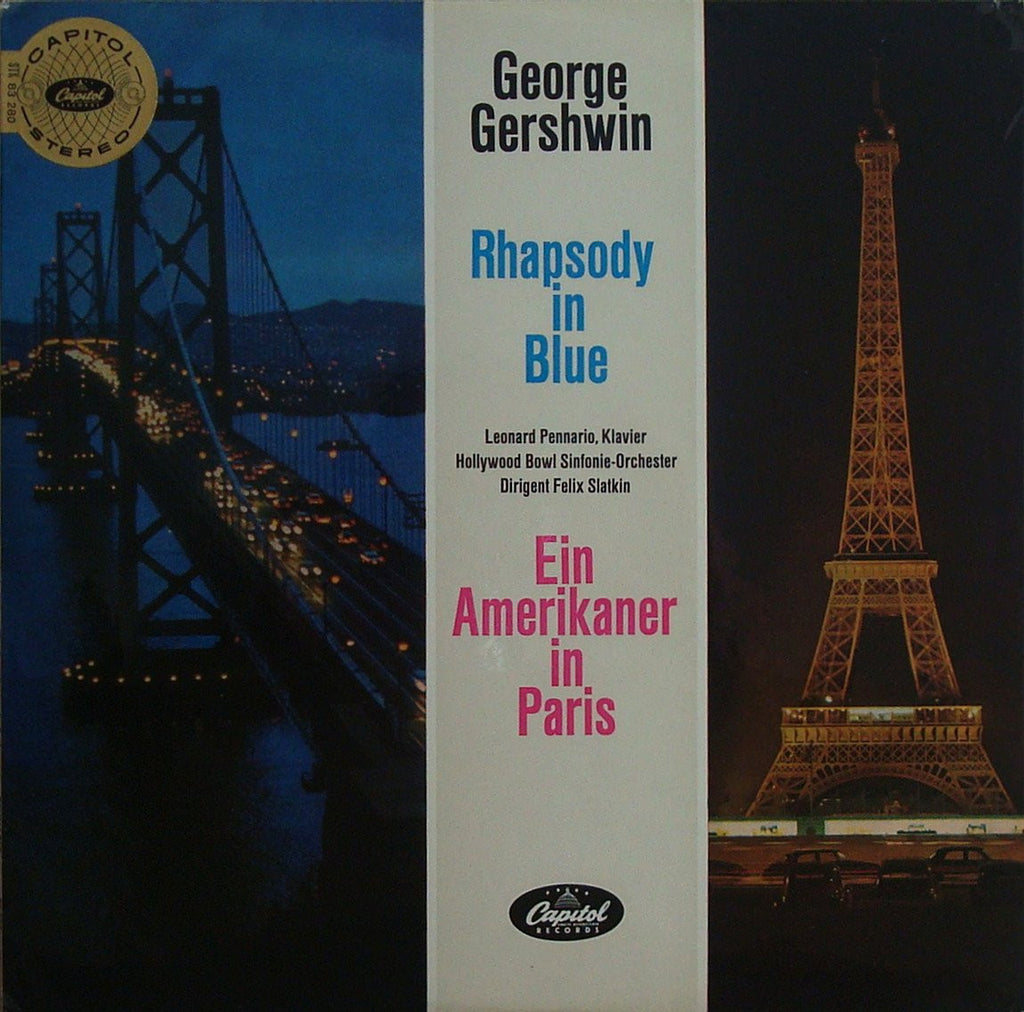 LP - Pennario: Rhapsody In Blue (+ An American In Paris) - German Capitol STK 83 280