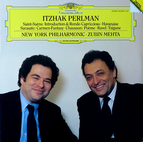 Perlman: Carmeny Fantasy, Tzigane, Poème, etc. - DG 423 063-1 (club, cut-out)
