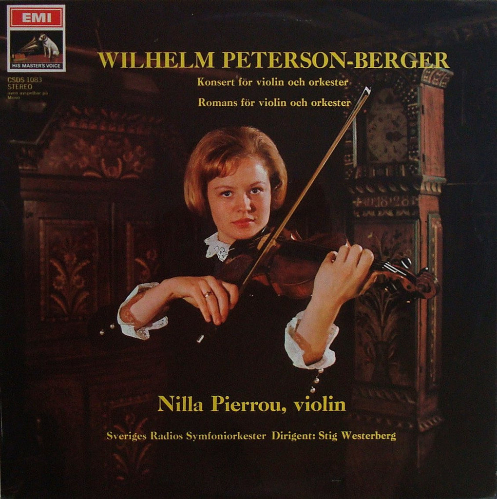 LP - Pierrou: Peterson-Berger Violin Concerto + Romance - Swedish EMI CSDS 1083