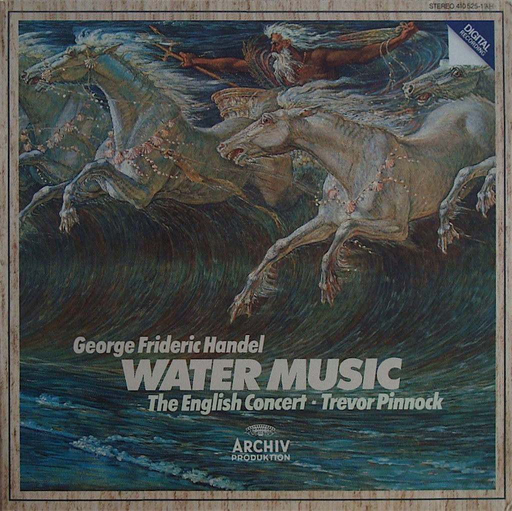 LP - Pinnock/The English Concert: Handel Water Music - Archive 410 525-1 (DDD)