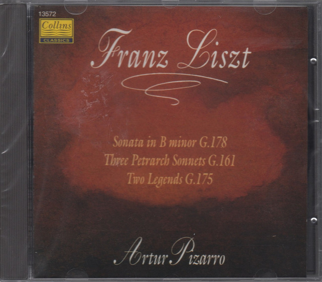 CD - Pizarro: Liszt Piano Sonata In B Minor, Legends, Etc. - Collins Classics 13572 (DDD) (sealed)