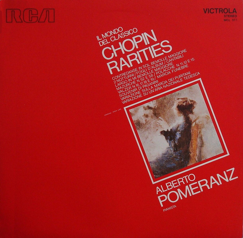 LP - Pomeranz: Chopin Rarities (Souvenir Di Paganini, Variations On A German Air, Etc.) - RCA MCL 511