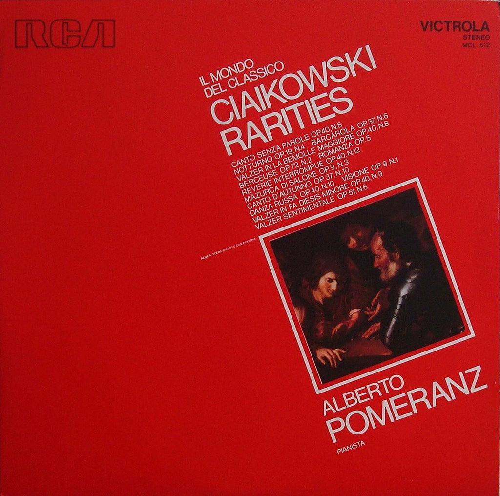 LP - Pomeranz: Tchaikovsky Rarities For Piano (Berceuse Op. 72/2, Etc.) - Italian RCA MCL 512