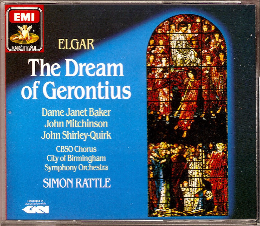 CD - Rattle/CBSO: Elgar The Dream Of Gerontius - EMI CDS 7 49549 2 (DDD) (2CD Set)
