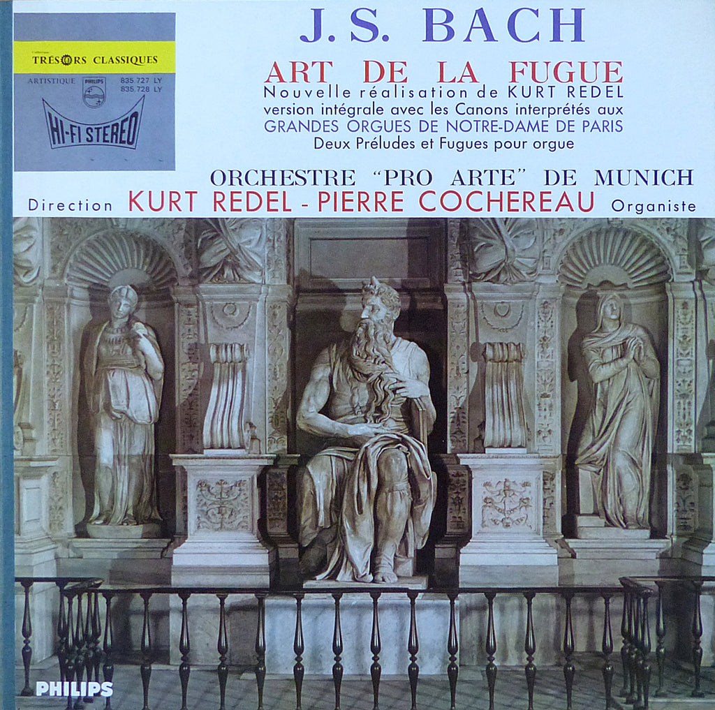 Redel: Bach Art of the Fugue (Cochereau) - Philips 835.727/8 LY (2LP set)