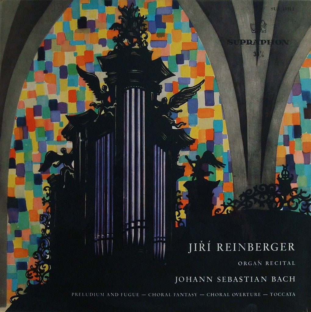 "LP - Reinberger: Bach Organ Works (Toccata In D ""Doric"", Choral Preludes) - Supraphon SUA 10311"