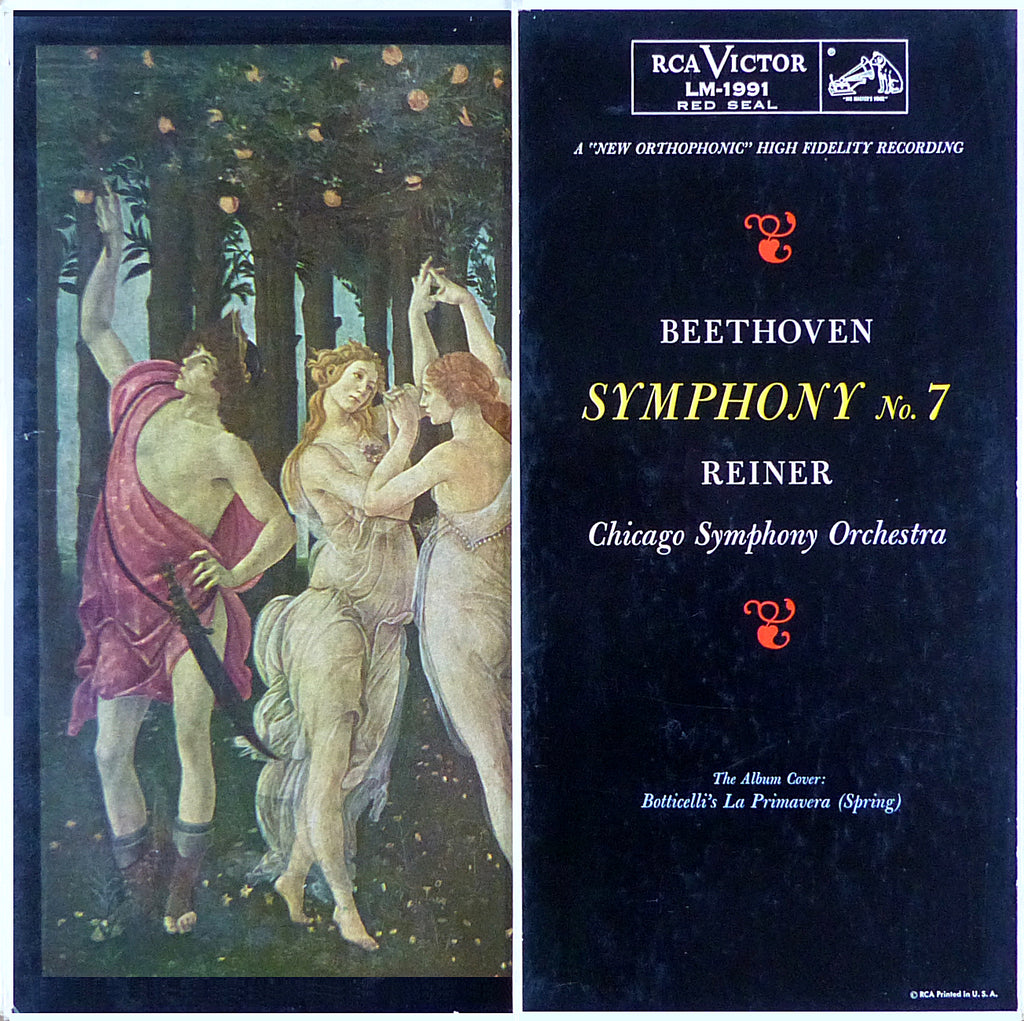 Reiner/Chicago SO: Beethoven Symphony No. 7 - RCA LM-1991