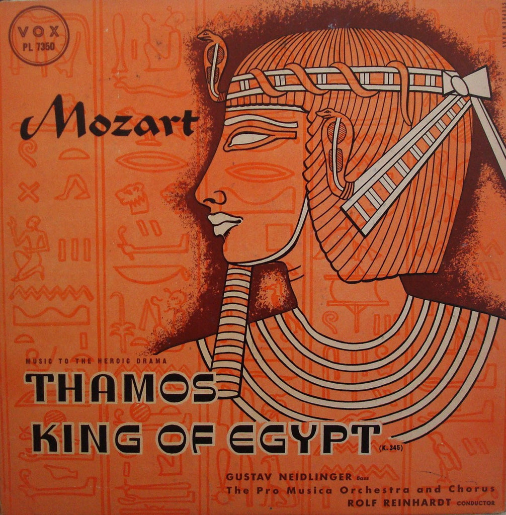 LP - Reinhardt: Thamos, King Of Egypt K. 345 (with Neidlinger, Bass) - Vox PL 7350