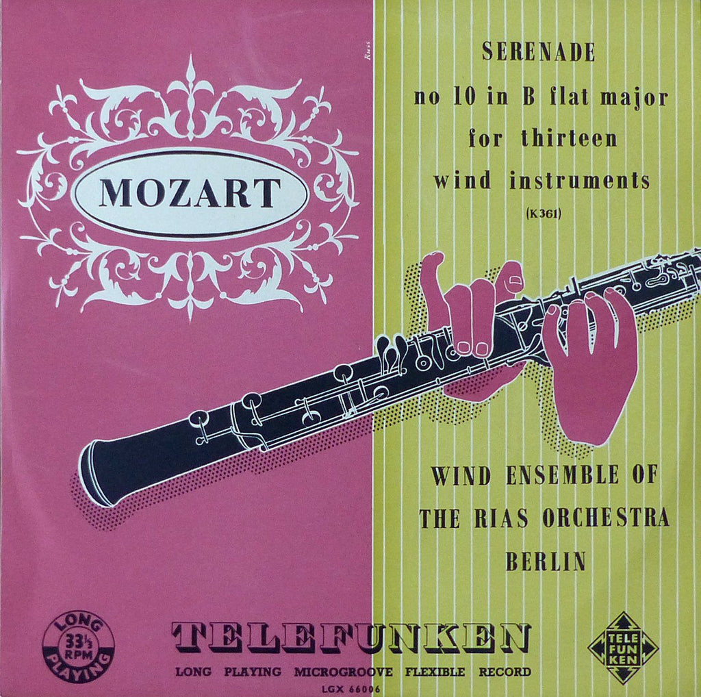 Berlin RIAS SO Winds: Mozart Serenade K. 361 (Gran Partita) - Telefunken LGX 66006