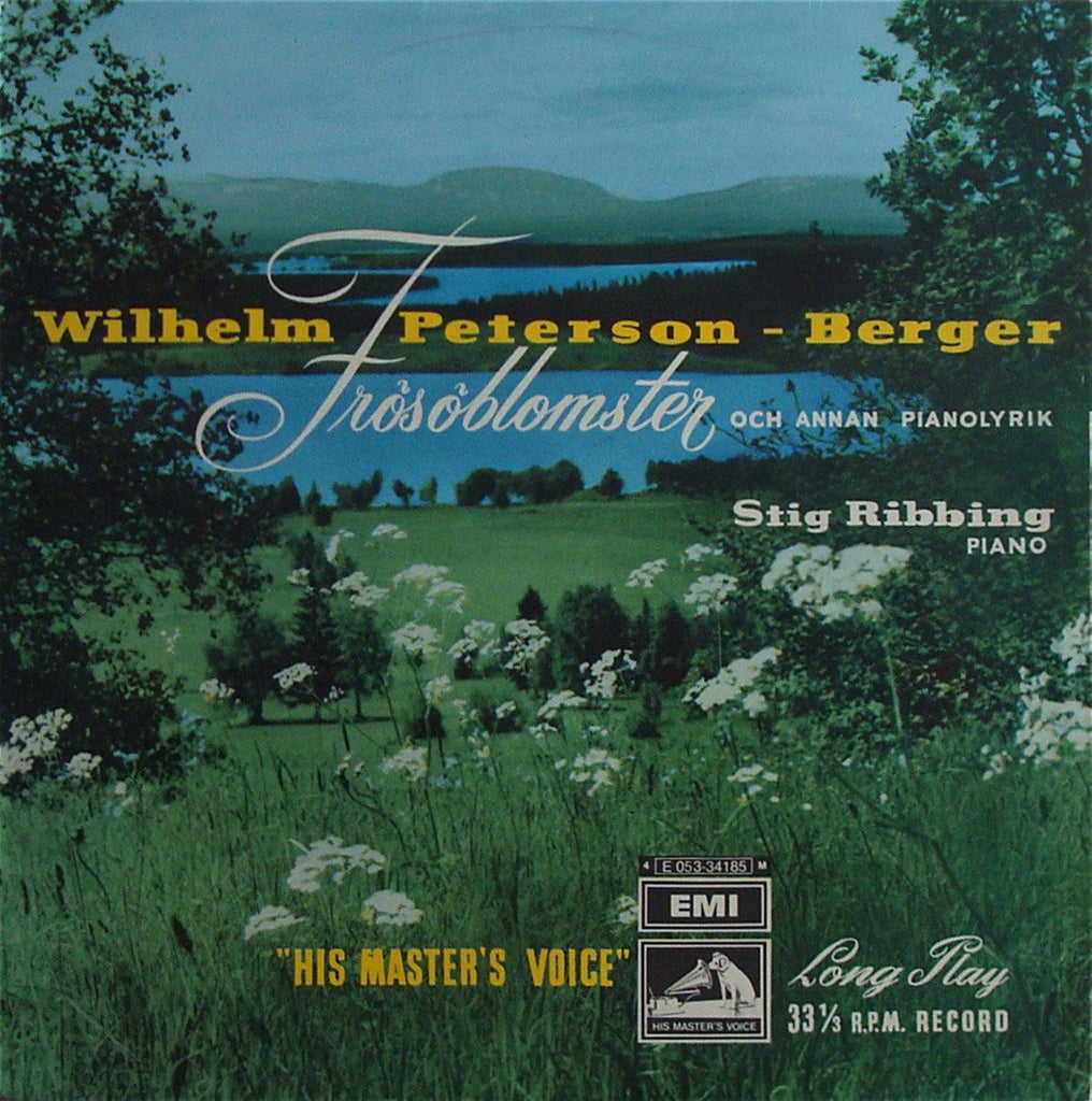 "LP - Ribbing: Peterson-Berger Lyric Pieces From ""Frösöblomster"" - Swedish EMI E 053-34185"
