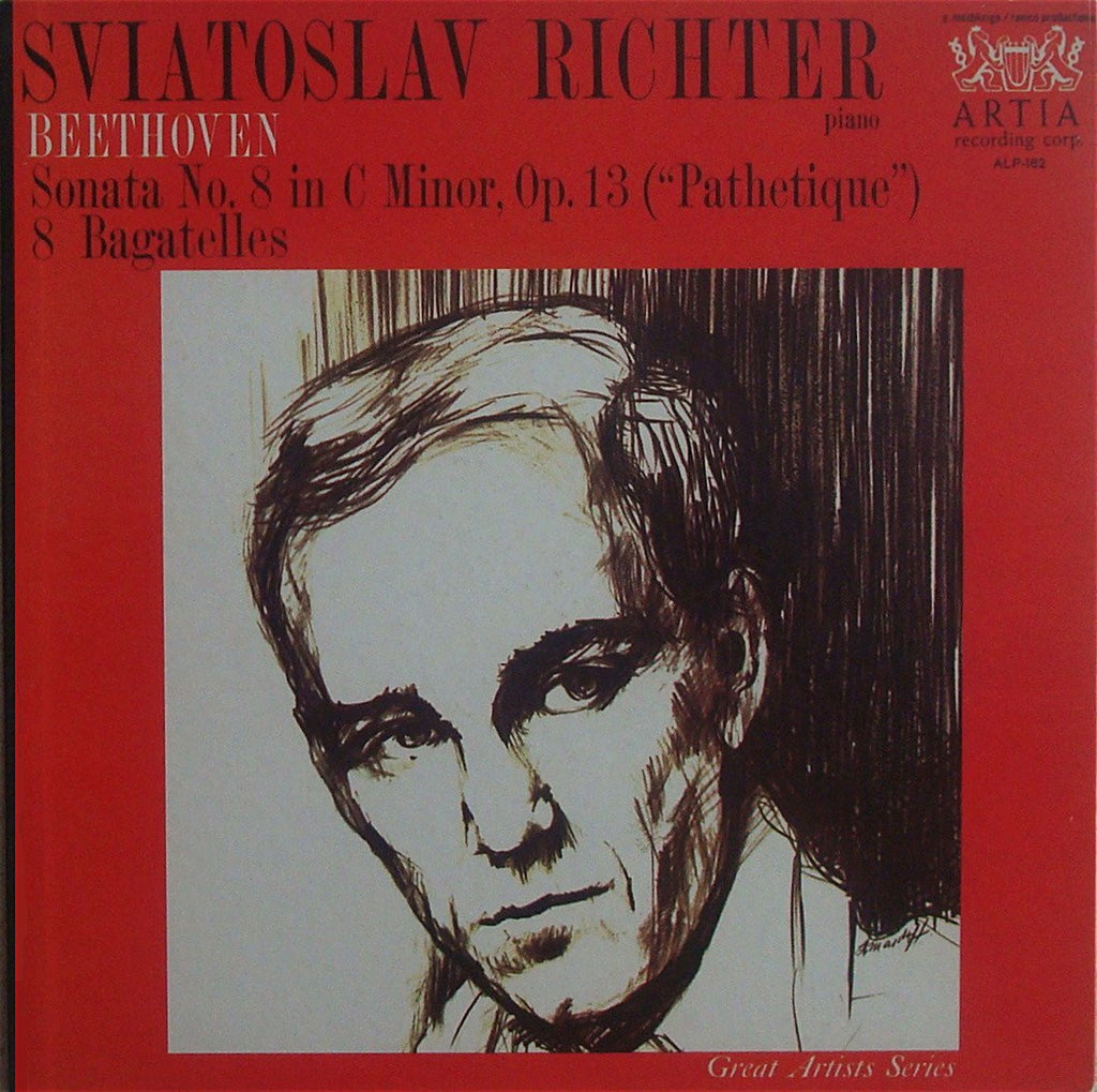 "LP - Richter: Beethoven ""Pathetique"" Sonata + 8 Bagatelles - Artia ALP-162"