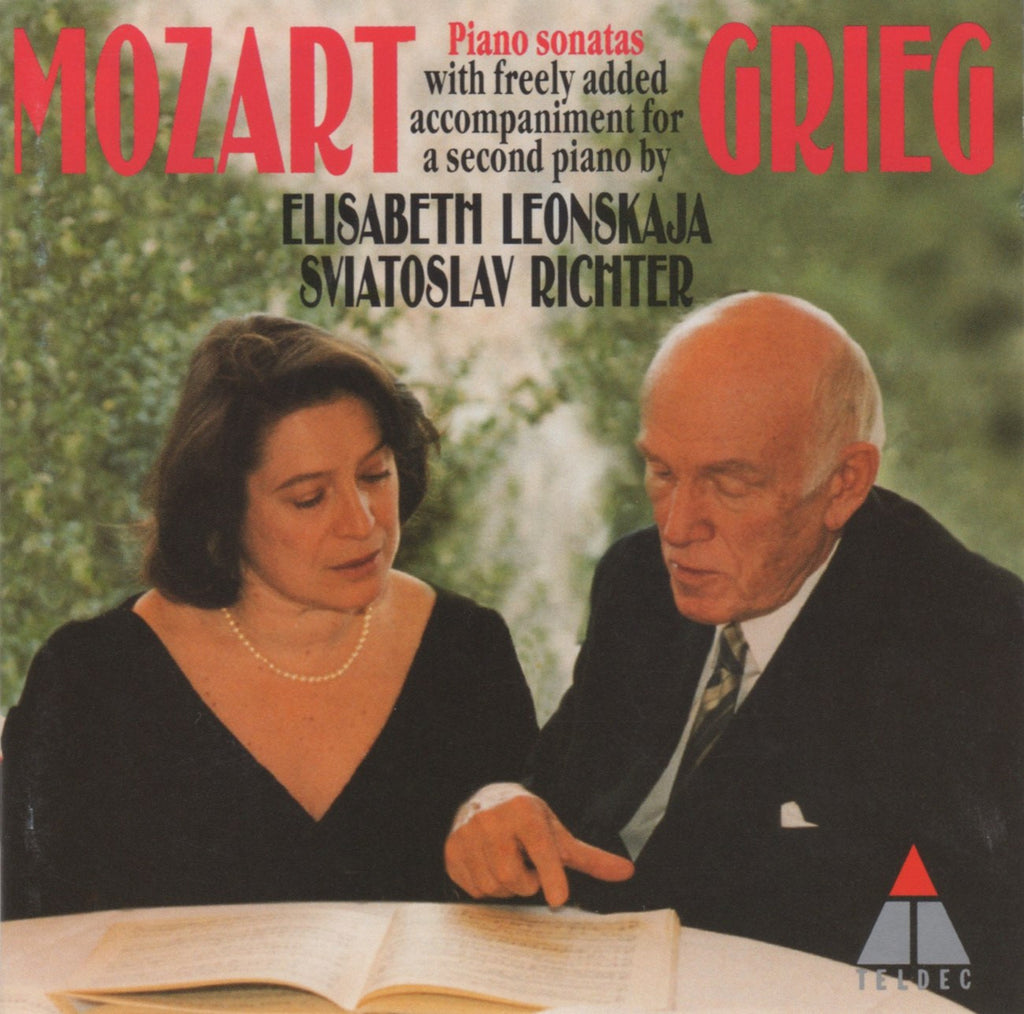 CD - Richter/Leonskaja: Mozart Piano Sonatas (arr. Grieg For 2 Pianos) - Teldec 4509-90825-2 (DDD)