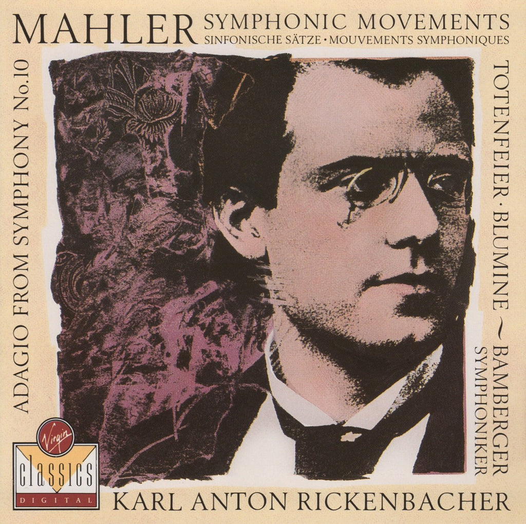 CD - Rickenbacher: Mahler No. 10 Adagio + Other Sym Movements - Virgin VC 7 90771-2 (DDD)