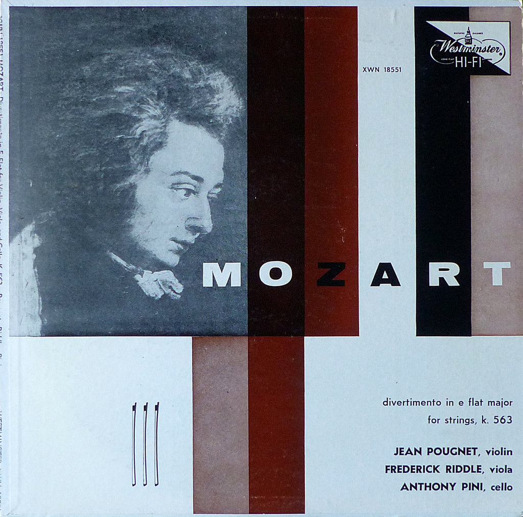 Pougnet/Riddle/Pini: Mozart Divertimento K. 563 - Westminster XWN 18551