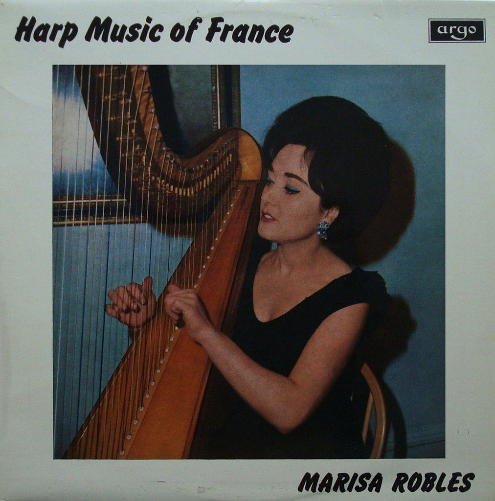 LP - Robles: Music Of France (Hasselmans, Salzedo, Tournier, Et Al.) - Argo RG 458