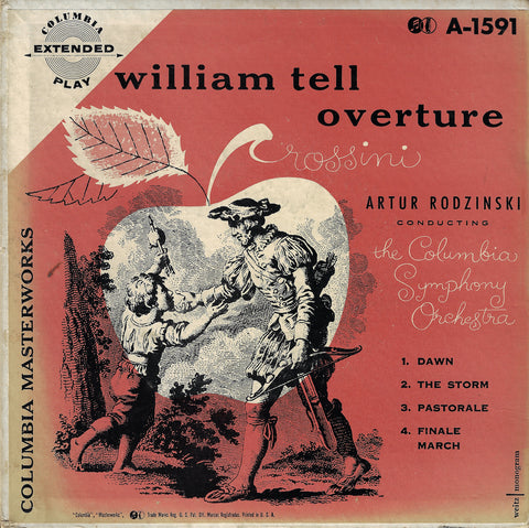 "Rodzinski: Rossini William Tell Overture - Columbia A-1591 (7"" EP)"