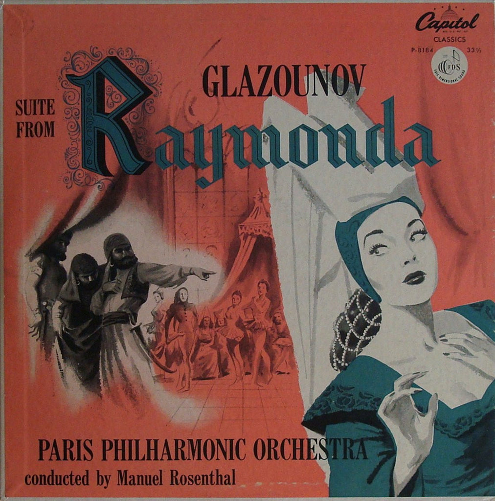LP - Rosenthal/Paris Phil: Glazunov Raymonda (rec. 1953): Capitol P-8184, Lovely Copy