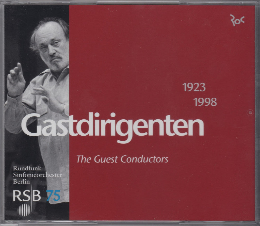 "CD - Berlin RSO: 75th Anniversay (""Guest Conductors"") - RSB 75 (3CD Set) - Rare"