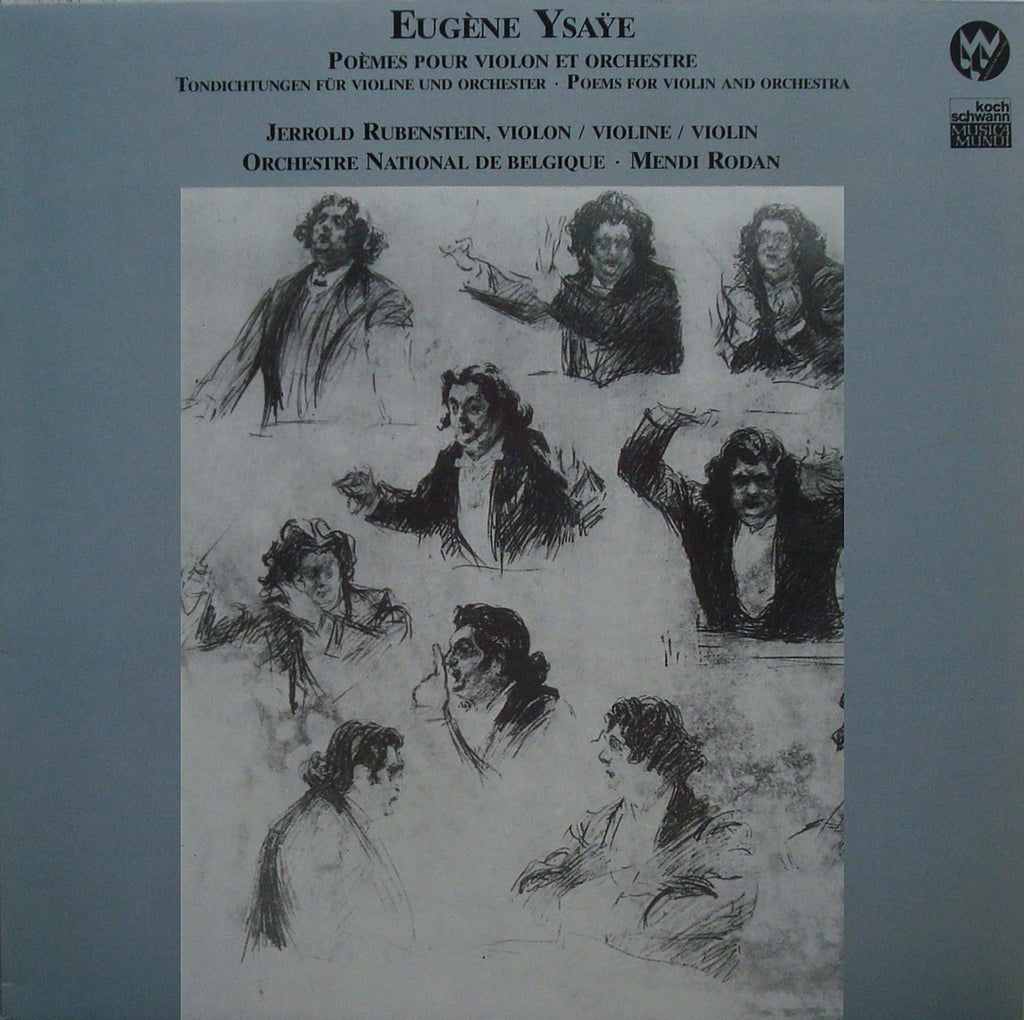 LP - Rubenstein: Ysaye Works For Violin & Orchestra - Koch Schwann 111 099 FA (DDD)