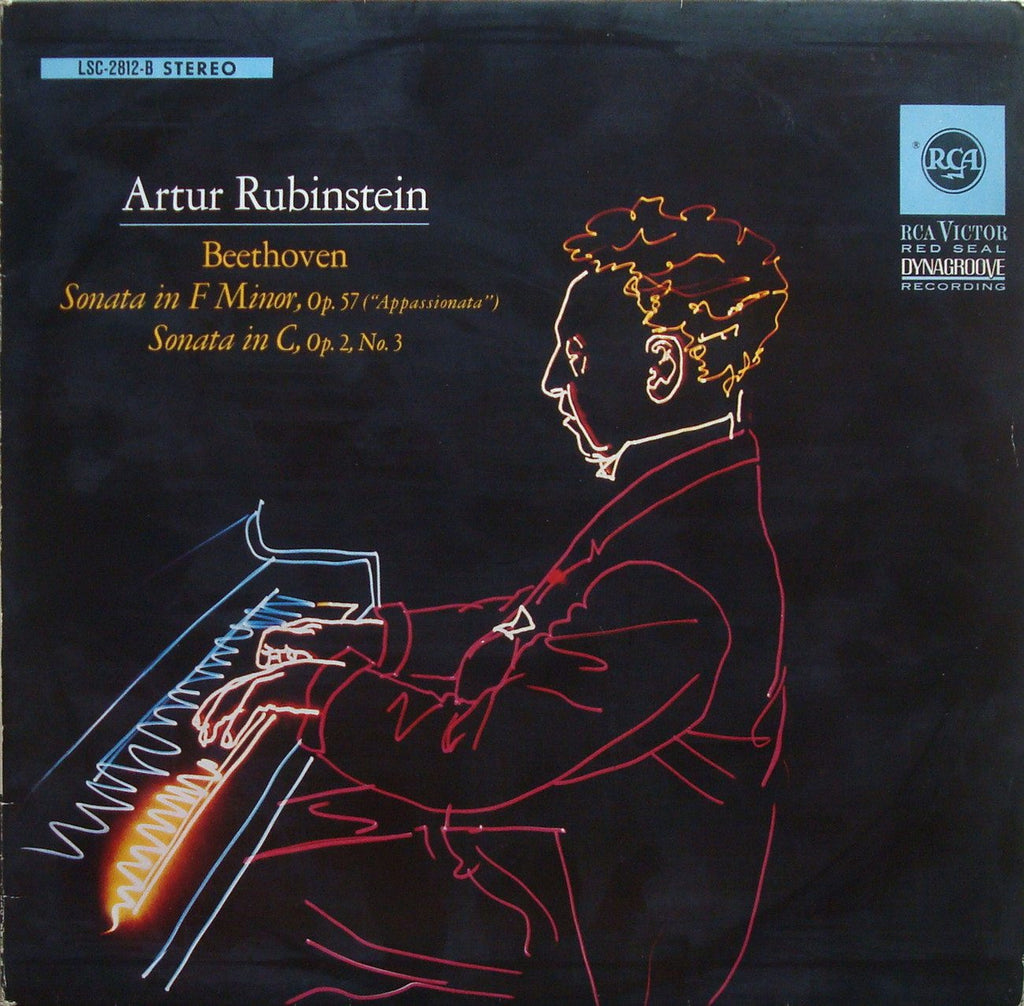 "LP - Rubinstein: Beethoven ""Appassionata"" + Op. 2 No. 3 - German RCA LSC 2812-B"