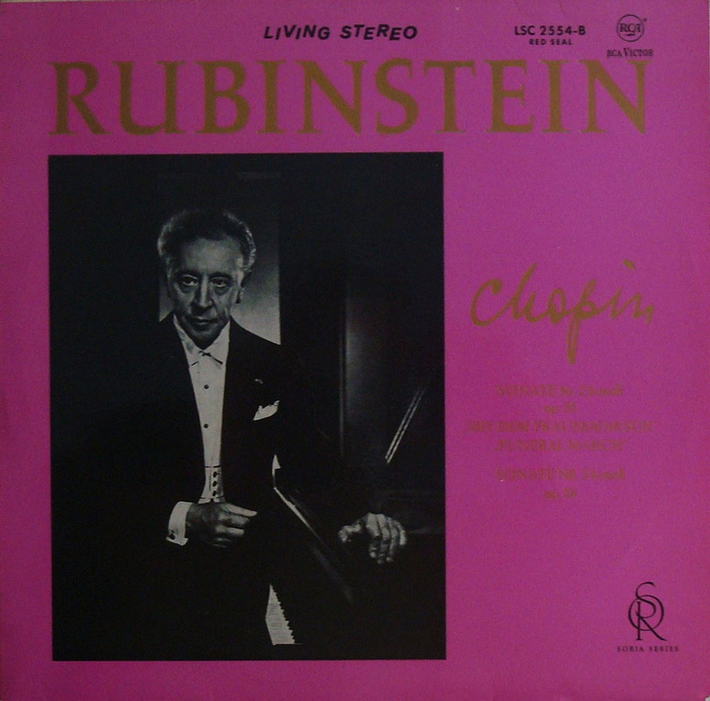 LP - Rubinstein: Chopin Piano Sonatas Nos. 2 & 3 - German RCA LSC-2554-B (Red Seal)