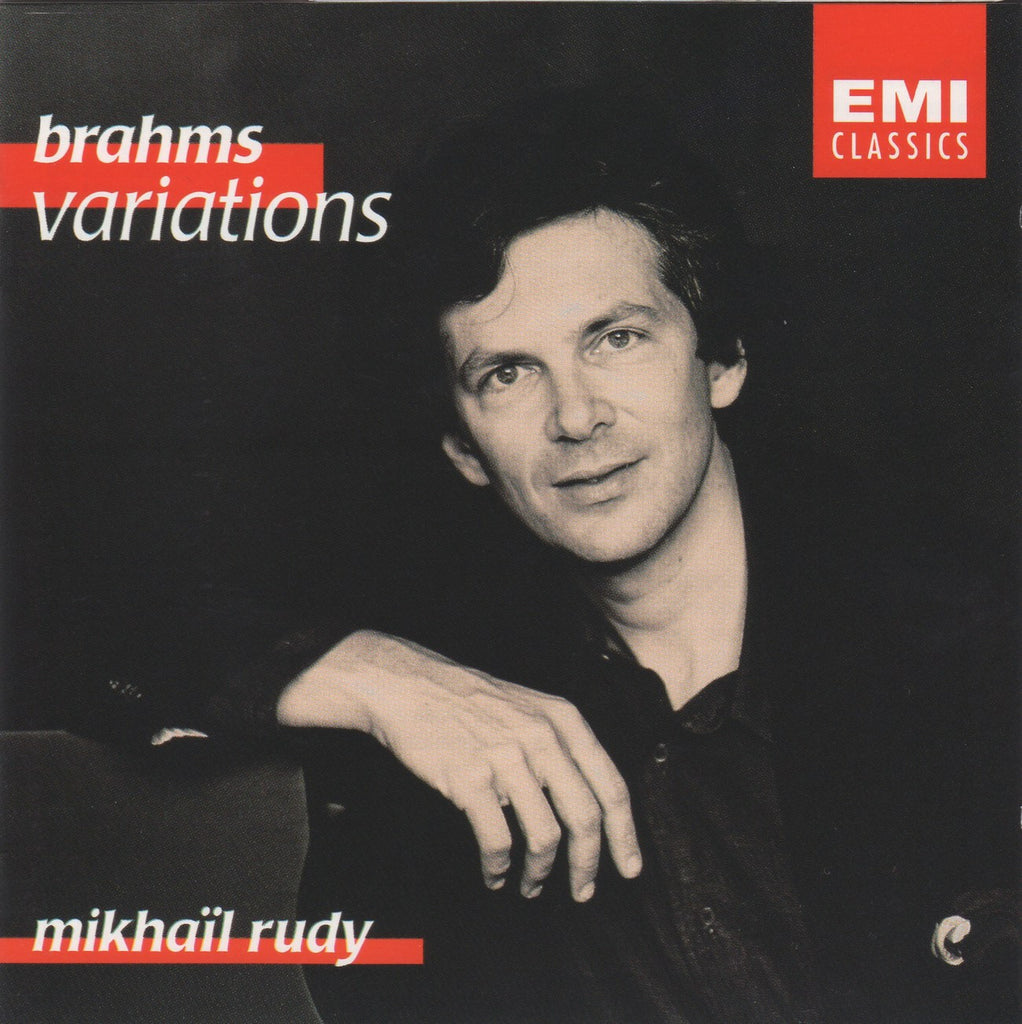 CD - Rudy: Brahms Variations For Piano Opp. 9, 18, 21/2 & 24 - EMI CDC 5 55167 2