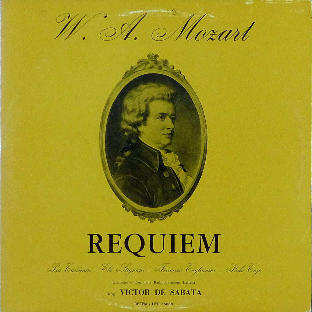 Sabata: Mozart Requirem - Cetra LPC 55058 (signed by Italo Tajo)