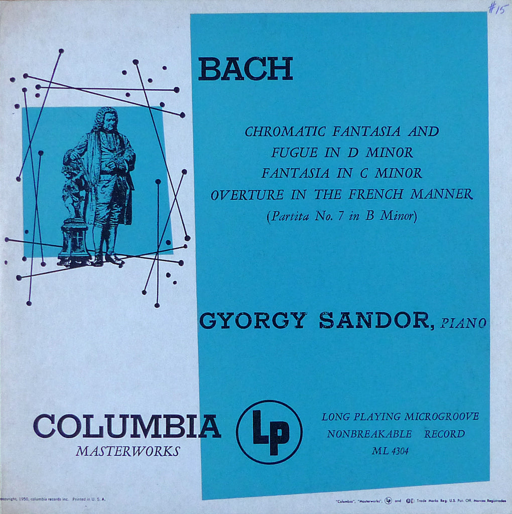 Sandor: Bach Chromatic Fantasy & Fugue, etc. - Columbia ML 4304