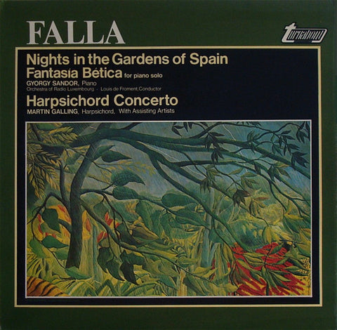 LP - Sandor: Nights In The Gardens Of Spain + Harpsichord Cto - Vox Turnabout TV 34588S