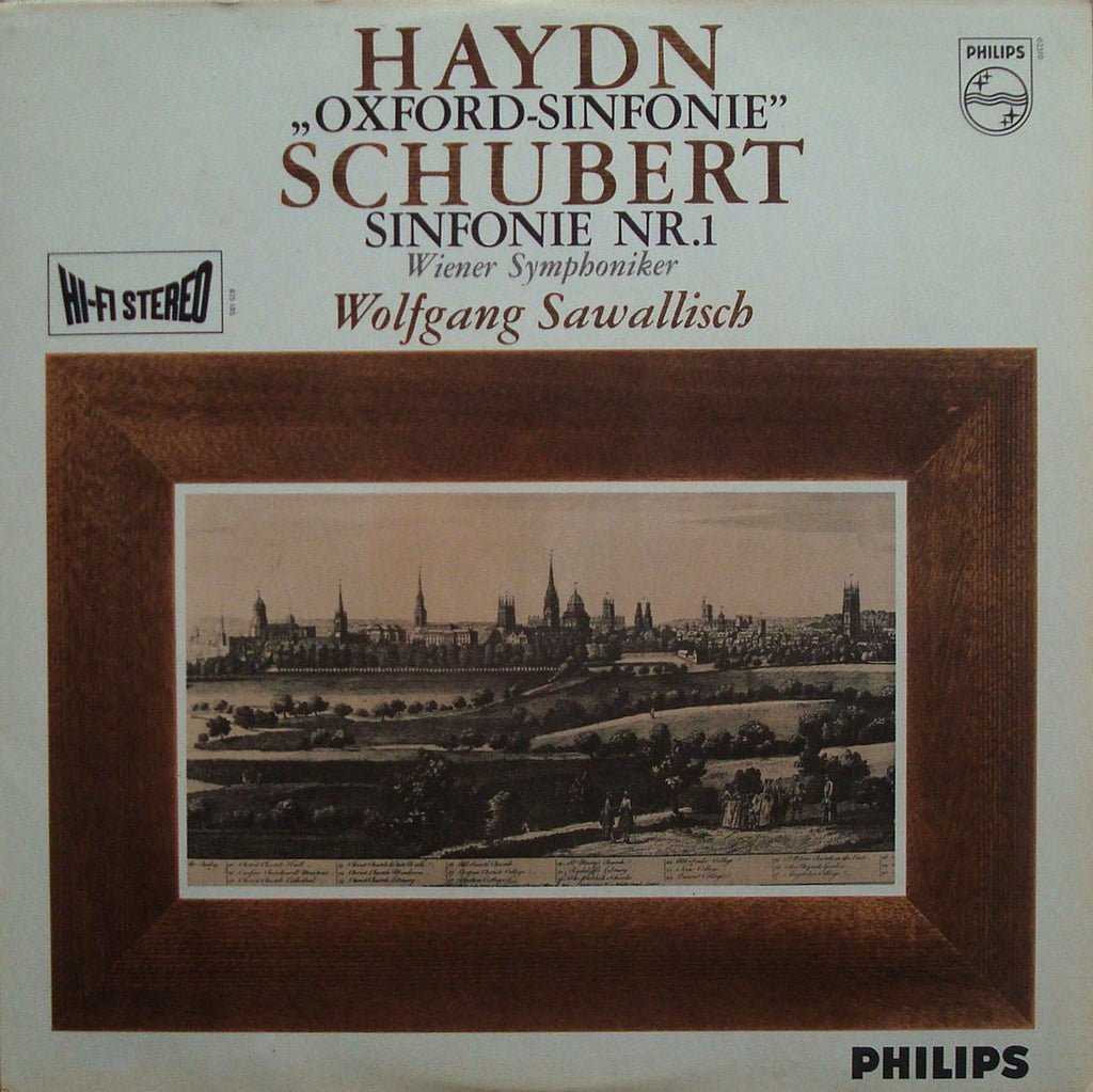 "LP - Sawallisch/VSO: Schubert Sym No. 1 / Haydn No. 92 ""Oxford"" - Philips 835 185 AY"
