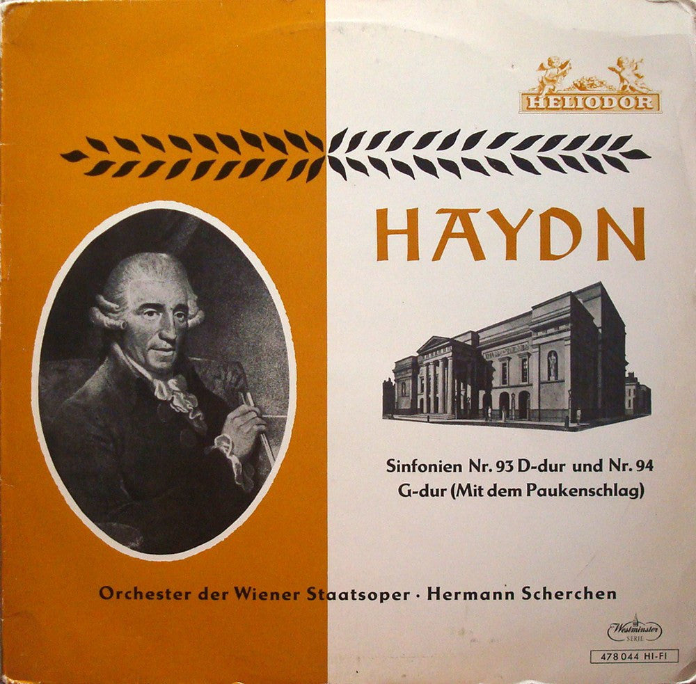"LP - Scherchen: Haydn Symphonies No. 93 & 94 ""Surprise"" - Heliodor 478 044"