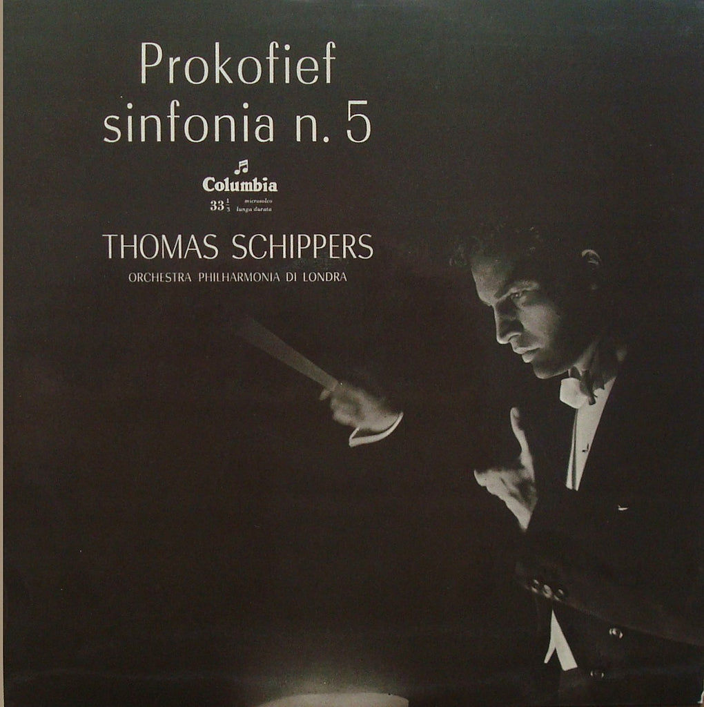 LP - Schippers: Prokofiev Symphony No. 5 - Columbia QCX 10311, Perfect Jacket