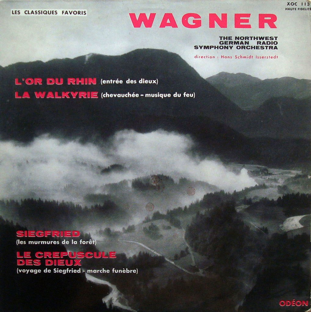 LP - Schmidt-Isserstedt/NDR SO: Wagner Orchestral Works - Odeon XOC 113, Superb!