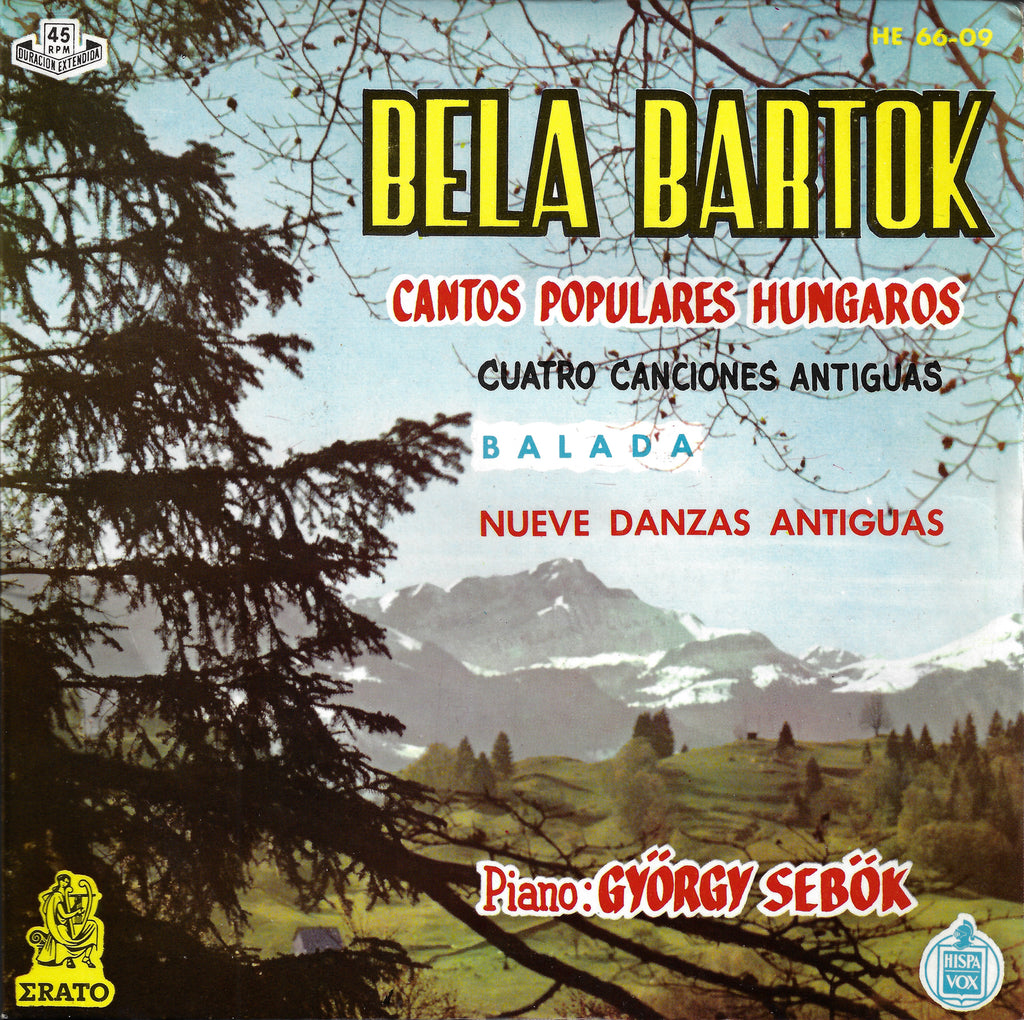 "Sebok: Bartok Hungarian Folk Songs, etc. - Hispavox HE 66-09 (7"" EP)"