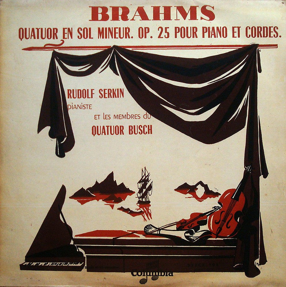 LP - Serkin/Busch Quartet: Brahms Piano Qunitet No. 1 Op. 25 - Columbia FCX 106; B Copy