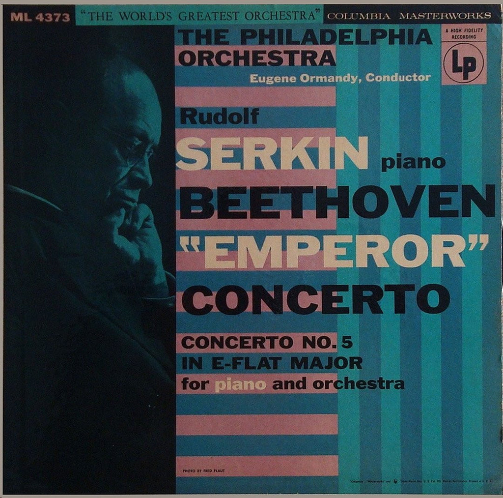 "LP - Serkin/Ormandy: Beethoven Piano Concerto No. 5 ""Emperor"" - Columbia ML 4373"