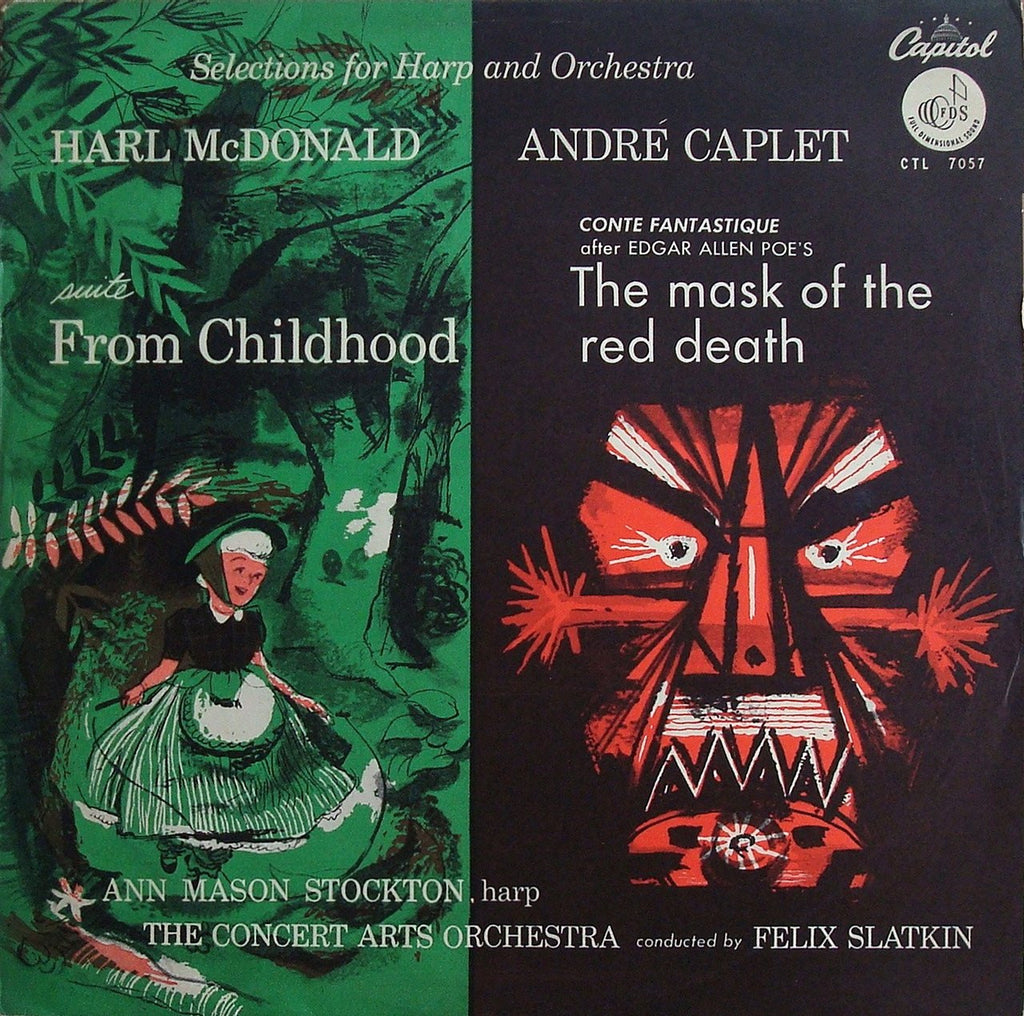 LP - Slatkin: Caplet Mask Of The Red Death / McDonald From Childhood - Capitol CTL 7057 - Rare