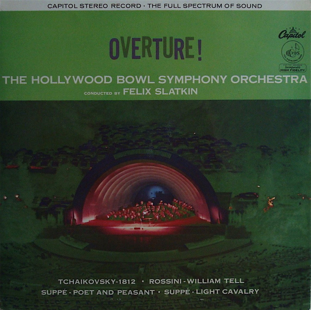 LP - Slatkin: Overture! (1812, William Tell, Light Cavalry, Etc.) - Capitol SP 8380 (UK)