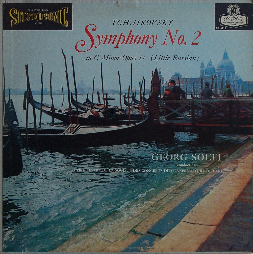 "LP - Solti: Tchaikovsky Symphony No. 2 ""Little Russian"" - London CS 6118"