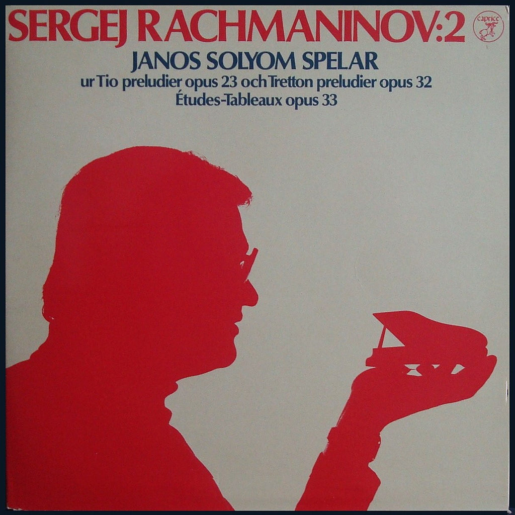 LP - Solyom: Rachmaninov Preludes From Opp. 23 & 32 / Etudes-Tableaux Op. 33 - Caprice CAP 1106