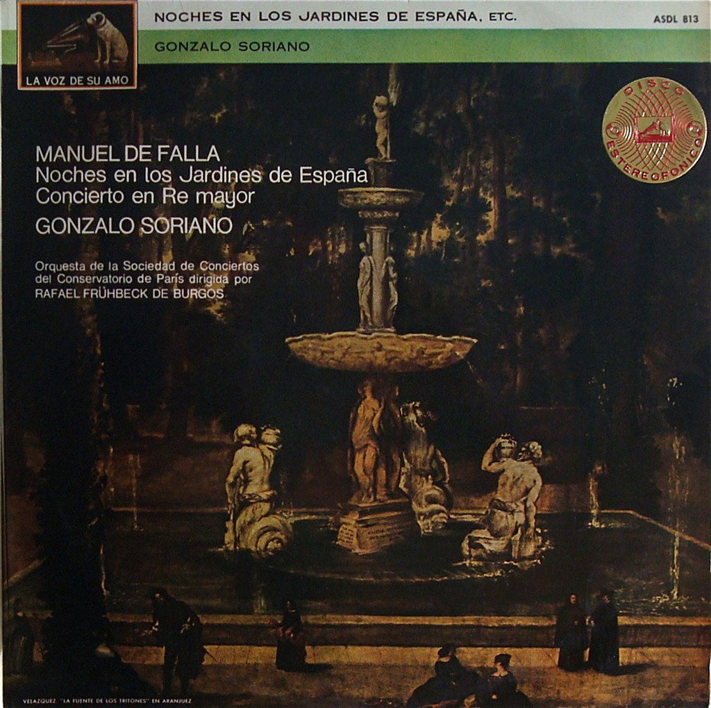 LP - Soriano: Nights In The Gardens Of Spain + Concerto - La Voz De Su Amo ASDL 813