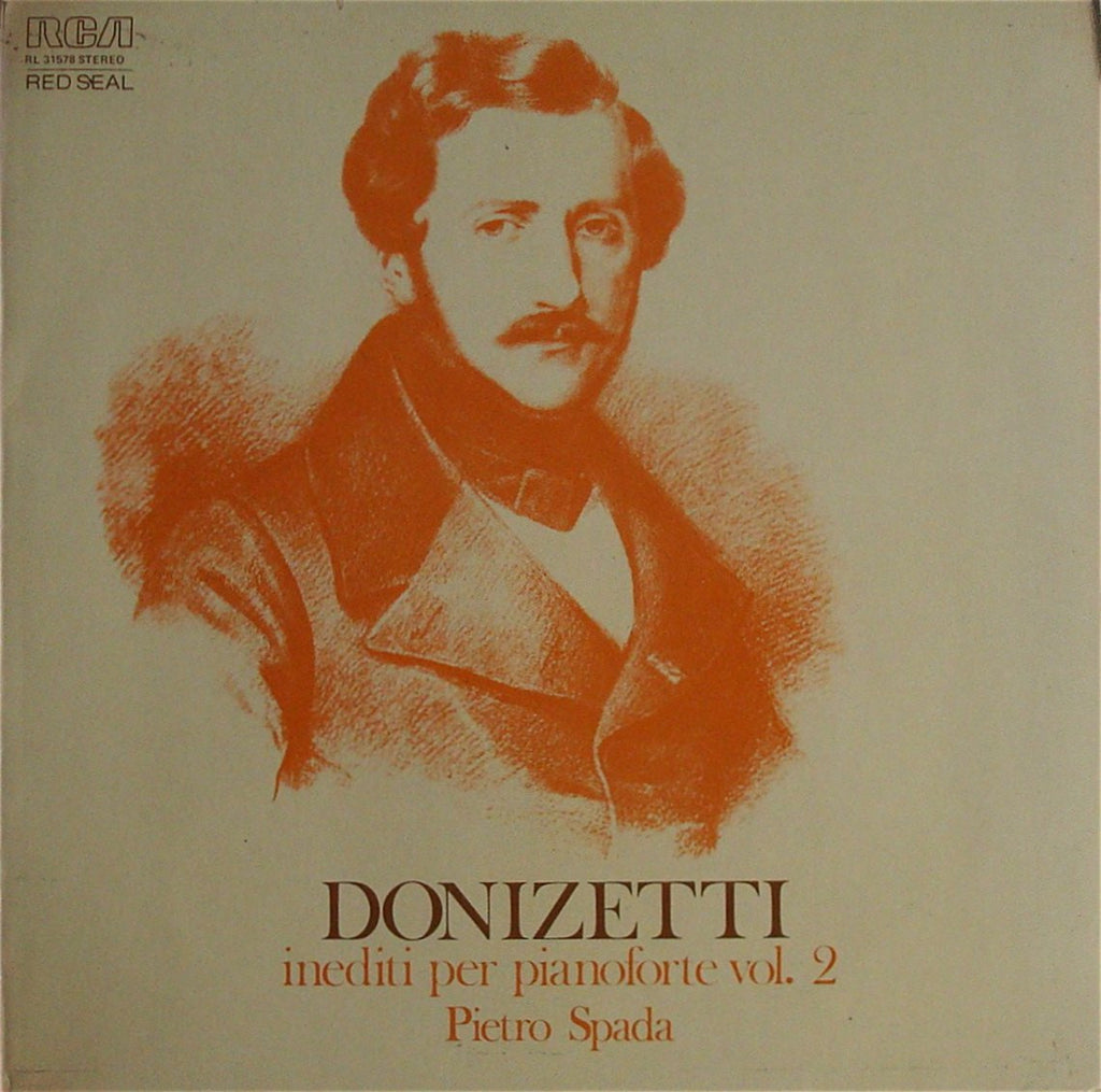 LP - Pietro Spada: Donizetti Unpublished Piano Works Vol. 2 - Italian RCA RL 31578