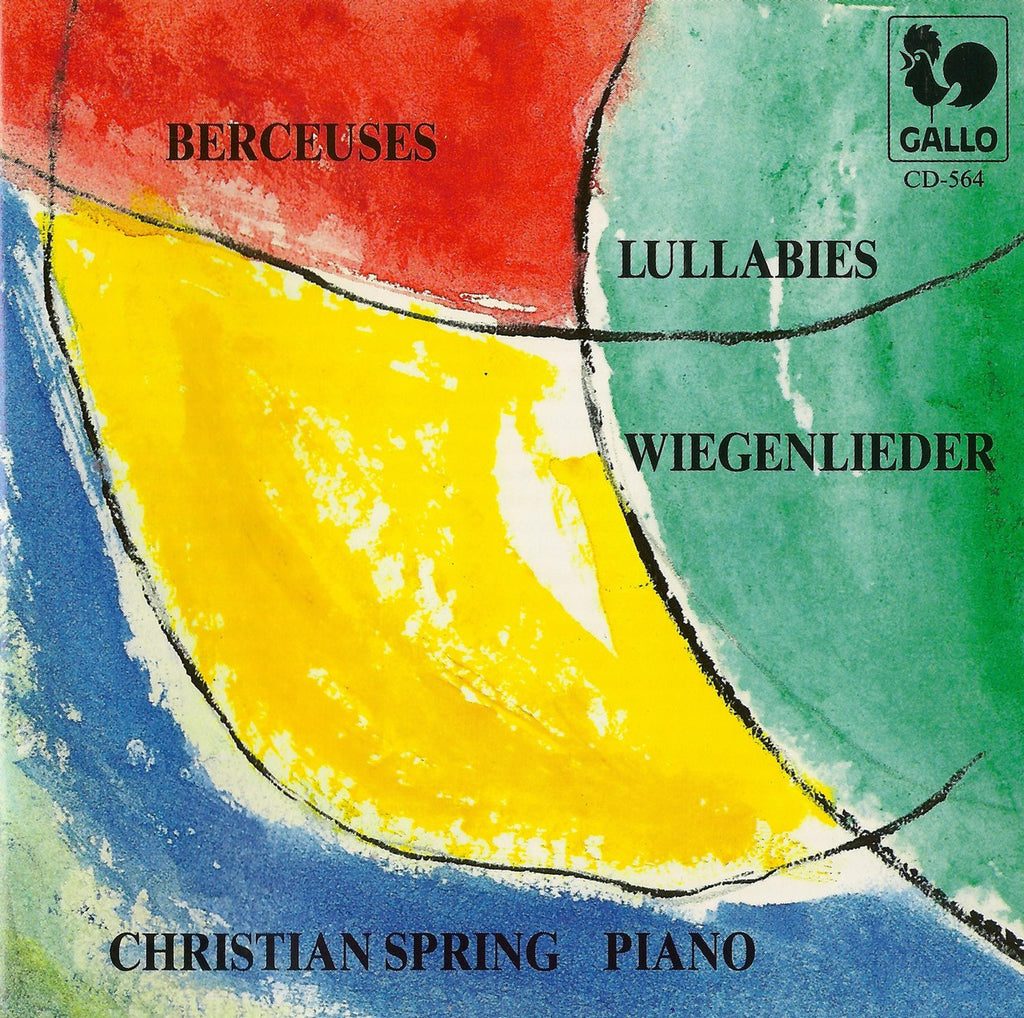 CD - Spring: Berceuces For Piano (Chopin, Liszt, Henselt, Busoni, Et Al.) - Gallo CD-564
