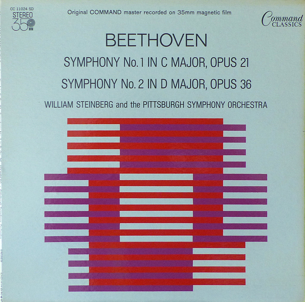 Steinberg: Beethoven Symphonies 1 & 2 - Command Classics CC 11024 SD