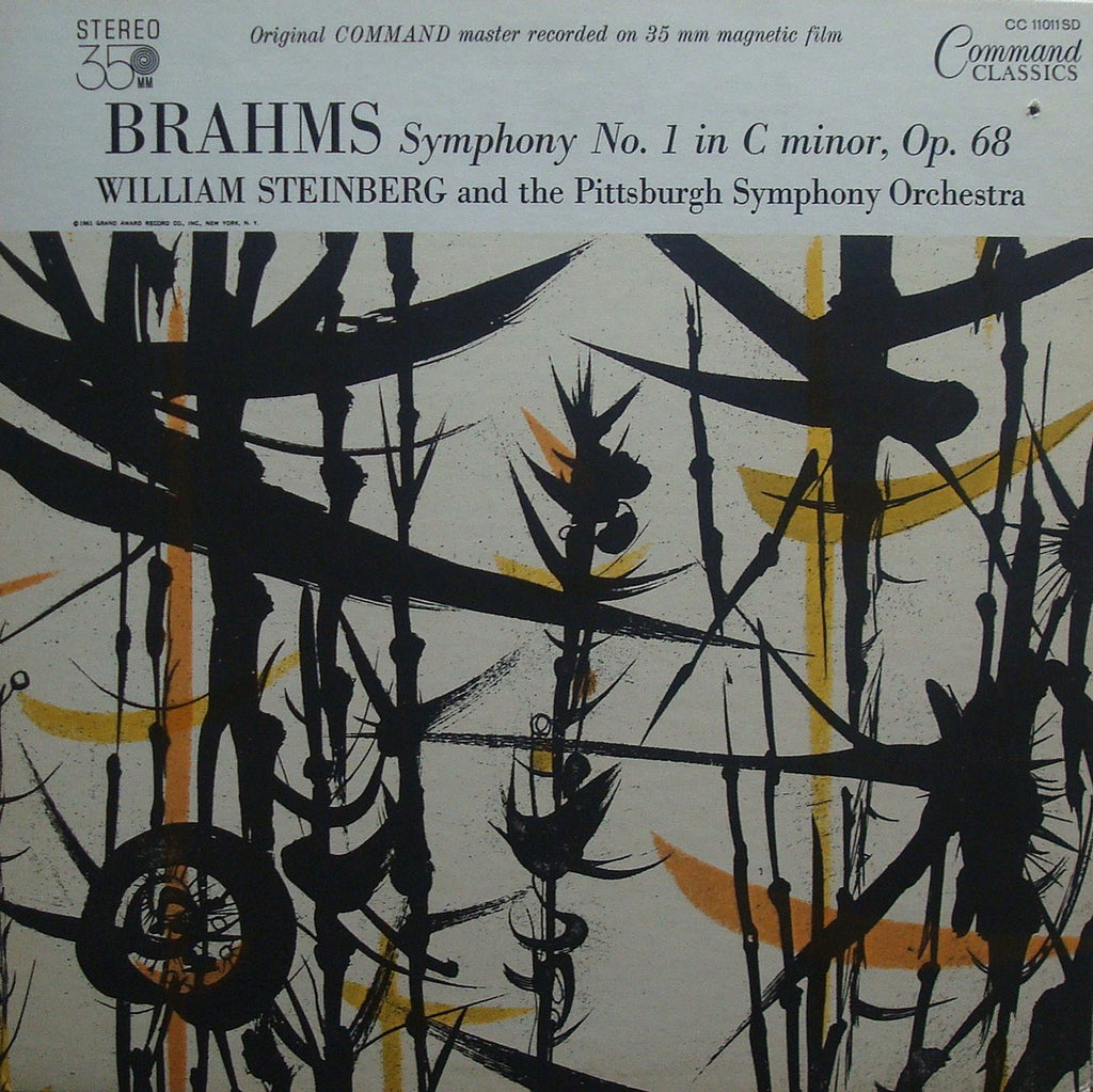 LP - Steinberg/Pittsburgh SO: Brahms Symphony No. 1 - Command Classics CC 11011SD